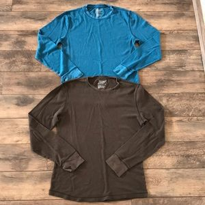 Lot of 2 Old Navy M Blue & Brown Thermals